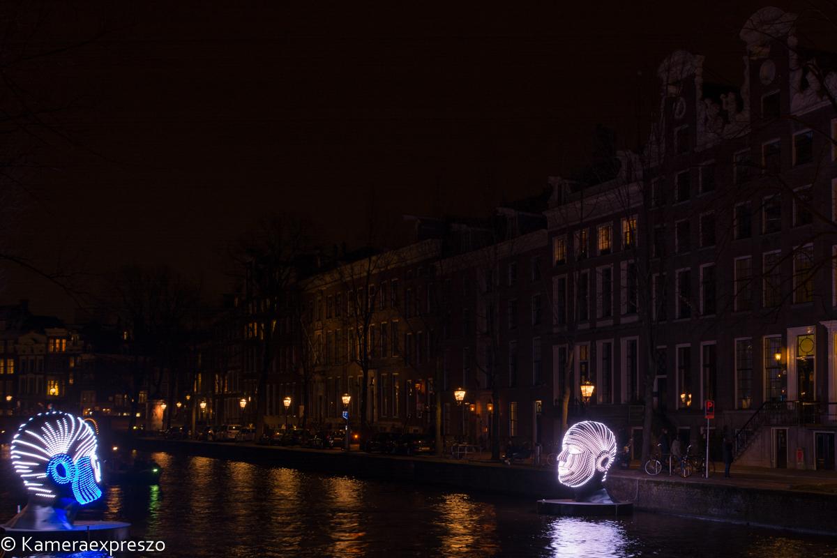 Rob Wander fotografie nachtfotografie amsterdam light festival Talking Heads